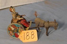 Lehmann Clown On Cart With Donkey
