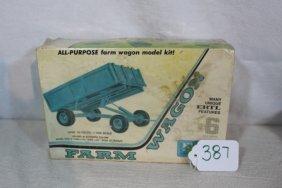John Deere Plastic Model Farm Wagon