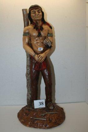 Plaster Standing Indian Figure