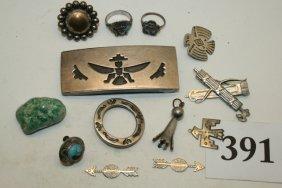 12 Pieces Of Navajo Jewelry