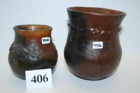 (2) Navajo Pottery Vessels