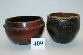 (2) Navajo Decorated Bowls
