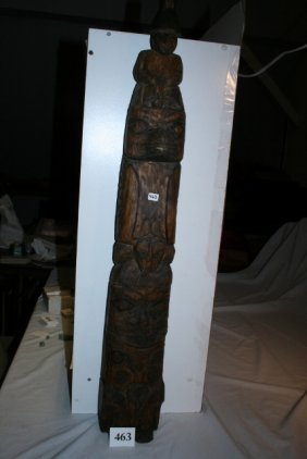 Aspen Wood Haida Northwest Coast Old Totem