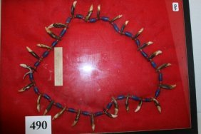 Blue-red Trade Beads