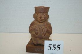 Pottery Peruvian Standing Man Figure