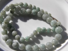 Antique Chinese Jadeite Necklace