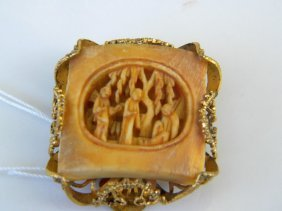 Qing Dynasty Carved Ivory Pendant