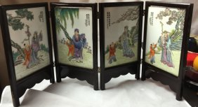 Chinese Six Panel Of Porcelain Plaques