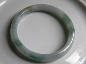 Natural Grade A Icy Green Jadeite Bangle Bracelet