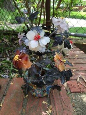 Antique Chinese Jade Flower Planter