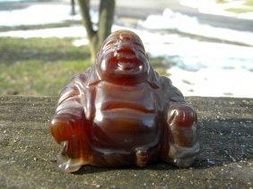 Antique Carved Agate Buddha Statue