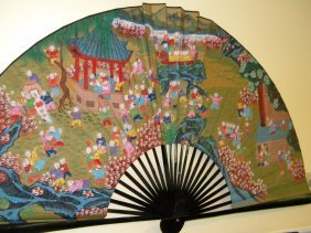 Antique Chinese Fan 100 Boys Painting