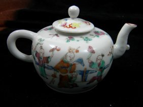 Antique Chinese Famille Rose Teapot Tongzhi Period