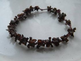 Antique Chinese Snake Spine Bone Bracelet