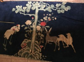 Antique Chinese Wall Carpet Qing Dynasty