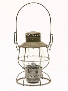 ADAMS & WEST LAKE CO. Lantern W/ Embossed UNION PAC