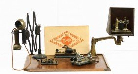 Counter Top Model Telegraph System W/extended Phone