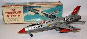 1964 Yonezawa Japan Large Tin B.o. F-105 Thunderchief