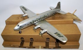 40's Marx Pan American Dc-4 N6519c Airplane & Box!