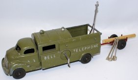 Hubley Diecast Bell Telephone Utility Toy Truck #475
