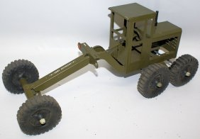 Structo Army Engineers Green Road Grader