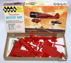"1964 Hawk 1/4"" Travel Air Mystery Ship Airplane Model"