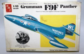 Amt 1:48 Grumman F9f Panther Fighter Jet Airplane Model