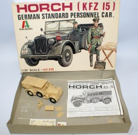 60's Italaerei 1:35 Horch Kfz 15 German Military Jeep