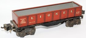 Prewar O Gauge Tin Lionel Ives Transition #2677 Gondola