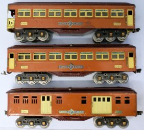Standard Gauge Lionel Ives Transition Passenger Car Set