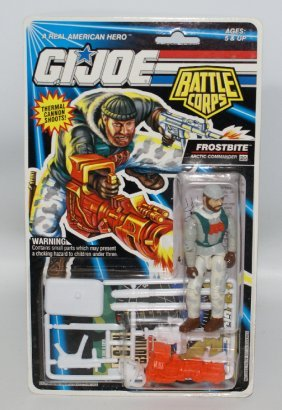 Original 1992 Gi Joe Battle Corps Frostbite Action
