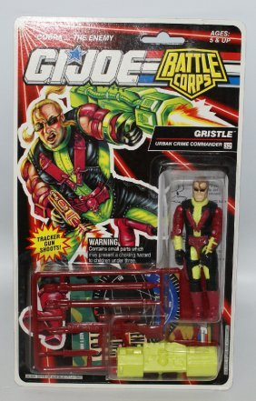 Original 1992 Gi Joe Battle Corps Commander Gristle