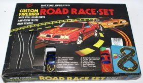 1990's Custom Firebird Road Race Slot Car Race Set