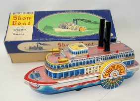 50's Tin Steam Show Boat 3200 Paddle Wheel Boat By