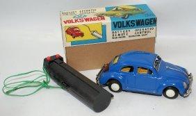Yoshiya R.c. B.o. Blue Tin Vw Volkswagen Beetle Bug