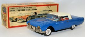 Tin Friction 1962 Ford Thunderbird 4-door Sedan, Bandai