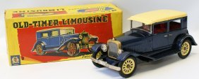 Tin Friction Old-timer Limousine Limo S-1227 By Shioji
