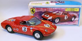 Ex. Rare Tin Friction Ferrari Berlinetta 250 Le Mans,