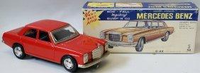 Tin B.o. Red Mercedes Benz #c-22 Bump-n-go Car By