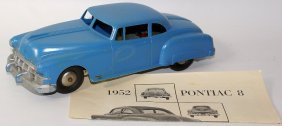Friction Hard Plastic Blue 1952 Pontiac Super 8 Coupe