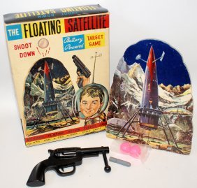 60's B.o.. Floating Satellite Target Game By Horikawa