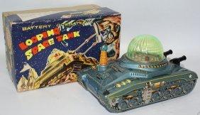 Rare 50's Tin B.o. Looping Space Tank In Box, Diaya
