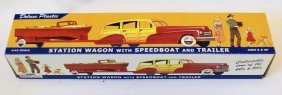 Dimestore Dreams 1:43 Station Wagon With Speedboat &