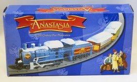 1997 Plastic B.o. Christmas Anastasia Train Set, Sealed