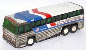 "Tin 7-1/2"" #4950 Greyhound Bus Americruiser, Buddy L"