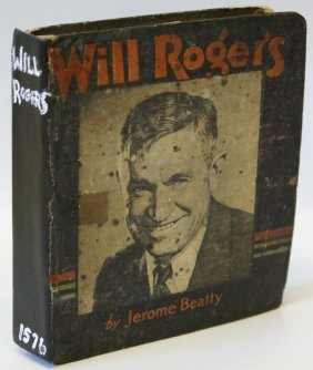 1935 The Story Of Will Rogers #1576 Saalfield Big