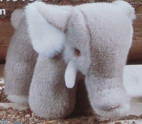 "Adorable Sonni (germany) Plush Stuffed 9-3/4"" Elephant"