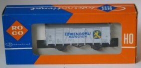 Ho 1:87 Roco 4305d White 4-wheel Lowenbrau Munchen Beer