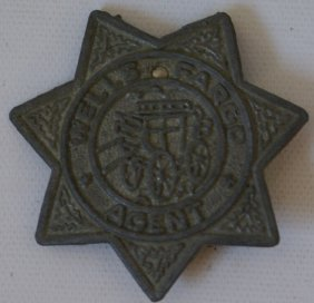 1958 Tales Of Wells Fargo Agent Badge Sheriff Star,