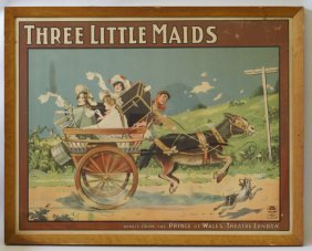 1902 Original Theater Poster Of Three Little Maids,